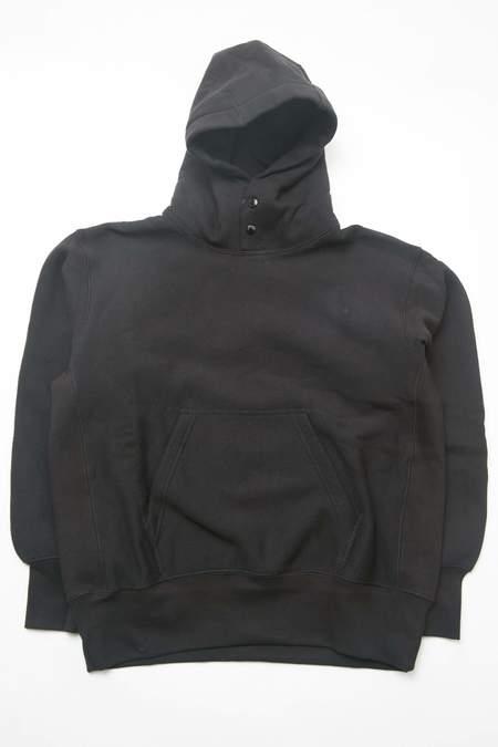Engineered Garments 12oz Cotton Fleece Workaday Utility Sweat Hoodie - Black