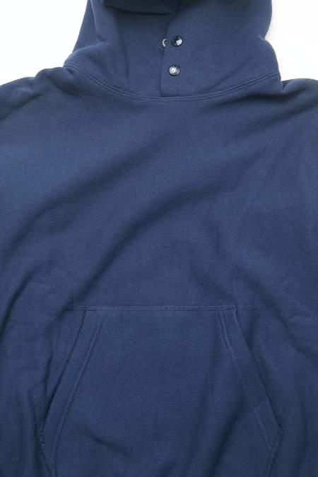 Engineered Garments 12oz Cotton Fleece Workaday Utility Sweat Hoodie - Navy