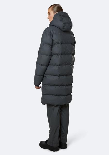 Rains Long Puffer Jacket - Slate