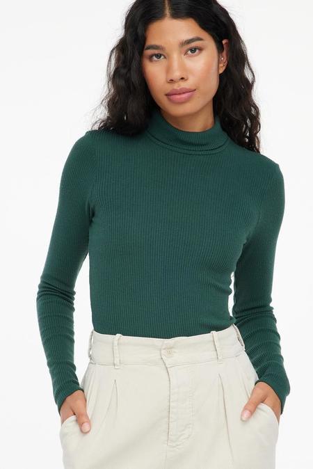 Lacausa  Sweater Rib Turtleneck - Absynthe