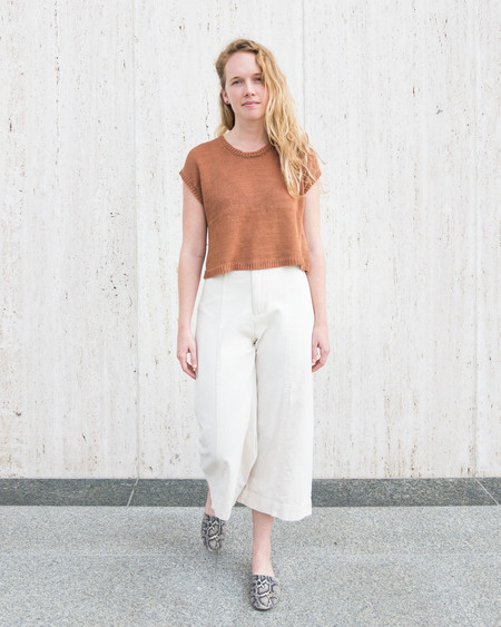 Esby LAUREL SWEATER TANK - CLAY