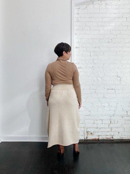 Lauren Manoogian Midi Skirt - Ecru Slub