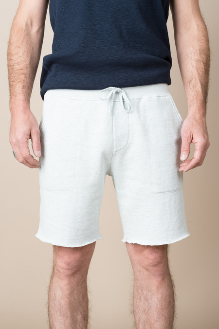 Save Khaki Overdyed French Terry Sweatshort In Oatmeal Lint Grey