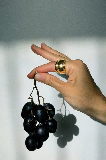 Hernán Herdez Puff Ring Set - Brass