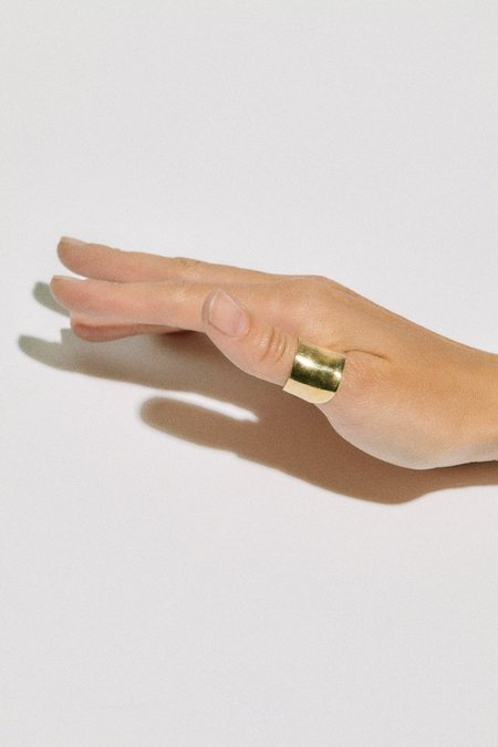 Hernán Herdez THUMB DE ORO ring - Brass