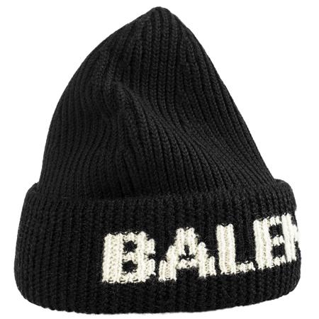 Balenciaga Logo beanie in black