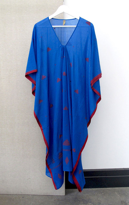 Two New York Blue khadi  caftan