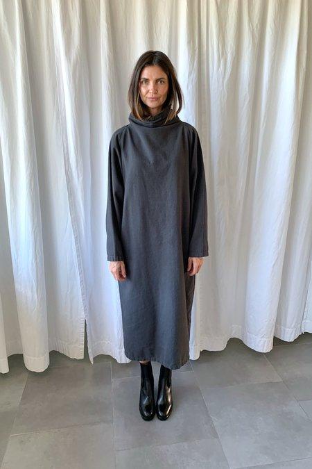 Black Crane Tube Dress - Grey