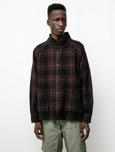 Paa Overdyed Funnel Shirt Jacket - Plum Cocoa