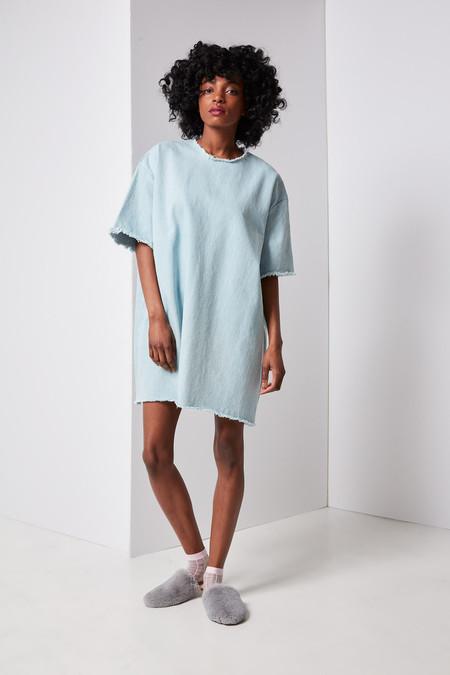Ashley Rowe Short Dress (Super Light Denim)