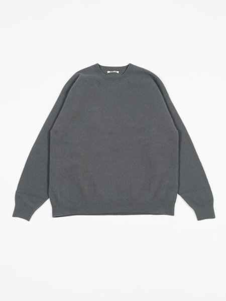Auralee Felted Wool Knit P/O - Gray