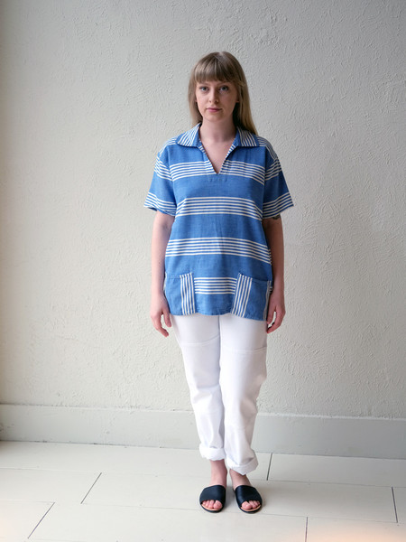 Shop Boswell Vintage Blue Stripe Pop Over