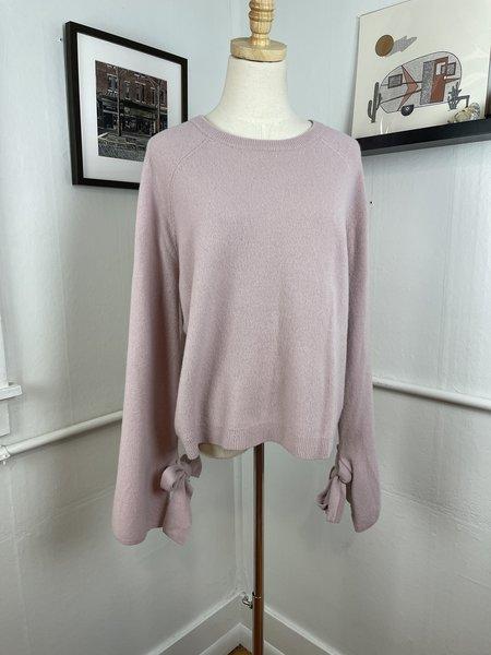 [PRE-LOVED] Brown Allan Wool & Yak Tie Sleeve Sweater  - lilac