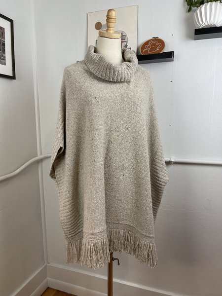 [Pre-Loved] Joie Oversized Poncho Sweater - oatmeal