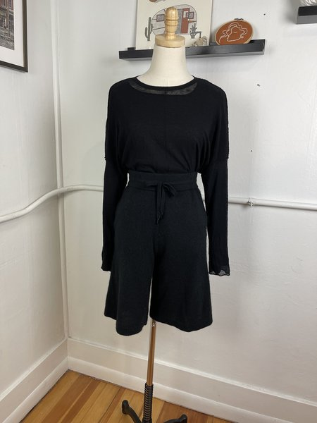 [Pre-Loved] Naadam Black Cashmere Shorts - Black