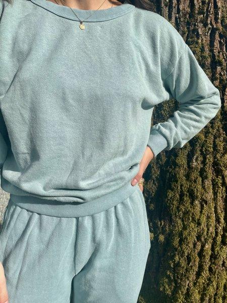 Jungmaven Yakama Cropped Sweatshirt - Ether Blue