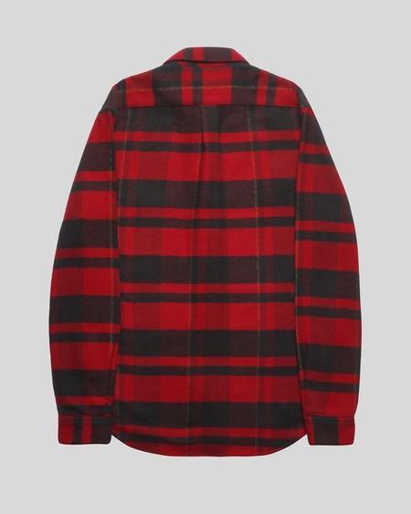 Portuguese Flannel Bonefire Shirt - Black/Red