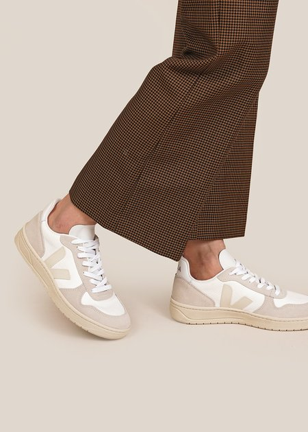 Unisex VEJA V-10 Sneakers - White Natural Pierre