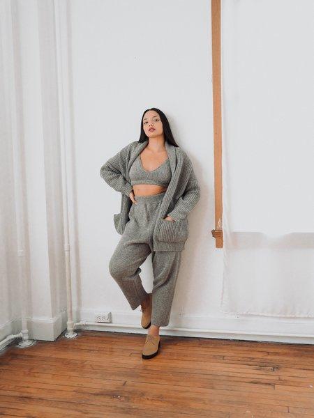 Cordera soft wool coat - grey