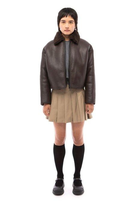 Nicole Saldana Clark Shearling Jacket - Chestnut Brown