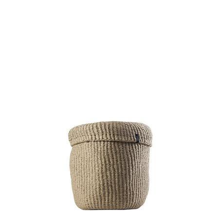 Mifuko Kiondo Small Basket With Lid - Brown