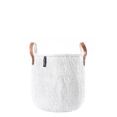 Mifuko Kiondo Medium Market Basket - White