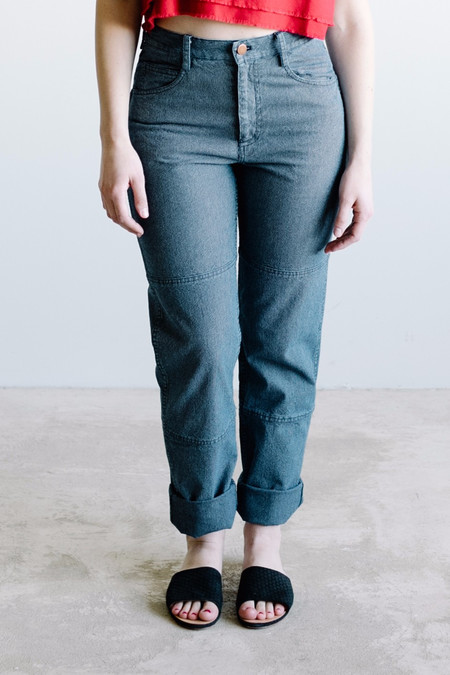 Carleen One-Tone Jeans - Blue Stripe
