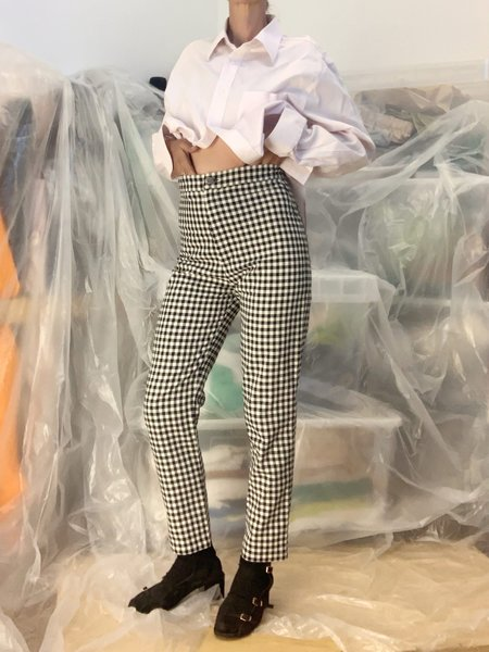 Lotta chequered Pants - Black/White