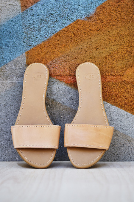 Off Season NYC Greecian Leather Slide Sandal