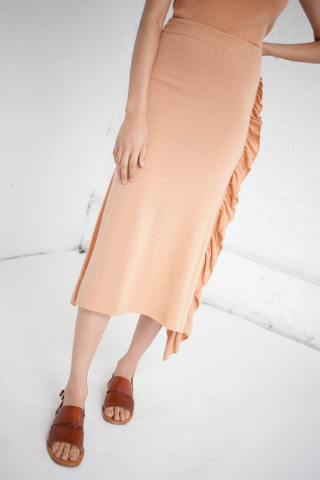 Ryan Roche Ruffle Front Skirt