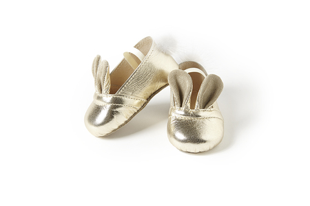 Sonatina Bunny-Shoes-In-Platinum-Leather