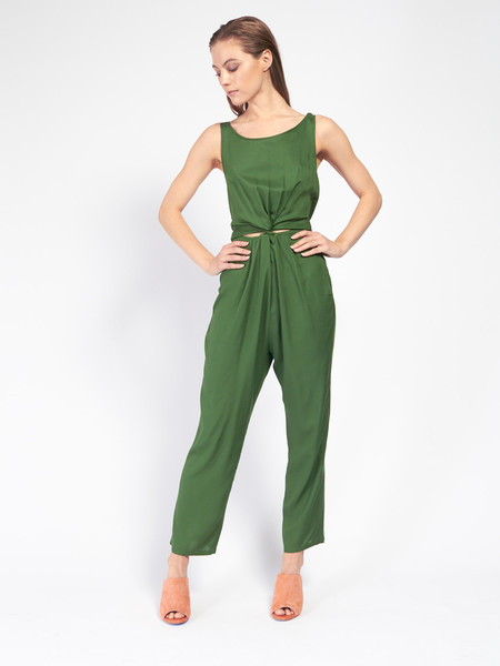 Samantha Pleet Immortal Jumpsuit Leaf Green