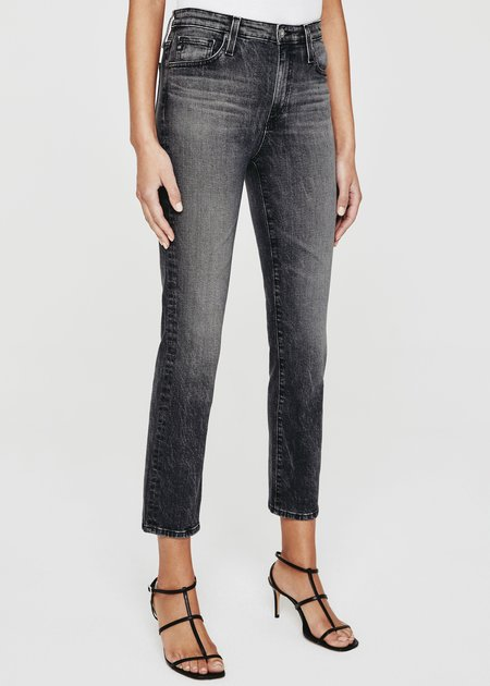 AG Jeans Isabelle High Rise Straight Crop Jean