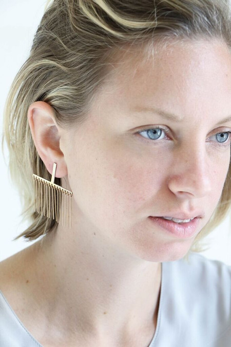 Faris Linelashes Earrings in Bronze