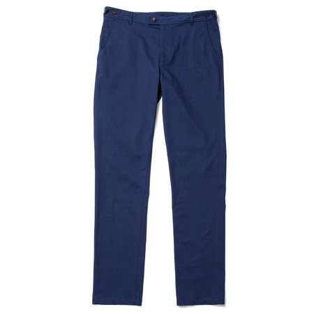 Corridor Indigo Cotton Stretch Trousers