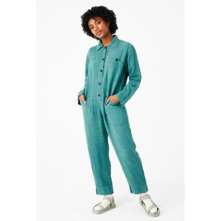 Back Beat Co. Linen Utility Jumpsuit - Foliage