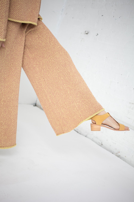 ECKHAUS LATTA Knit Culotte in Yellow Dust