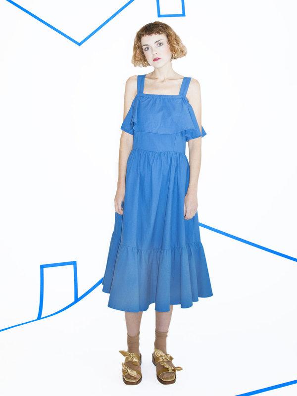 Samantha Pleat Paramour Dress - Blueberry