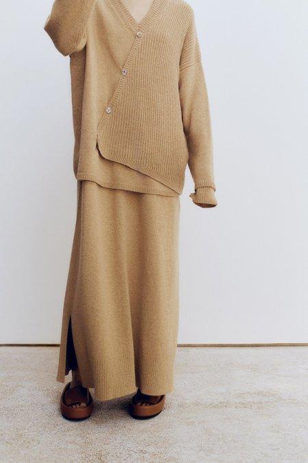 Mónica Cordera Baby Alpaca Asymmetrical Sweater - Camel