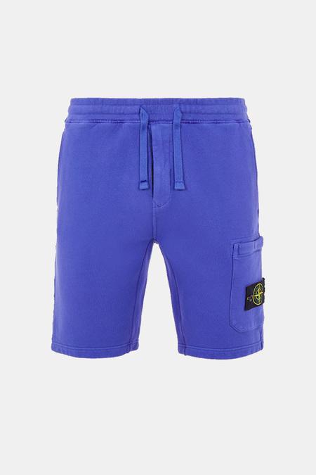 Stone Island Brushed Fleece Bermuda Shorts - Periwinkle