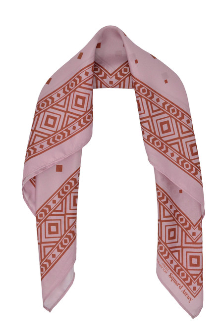 Squar'd Away The Stone Fox Scarf - dusty pink