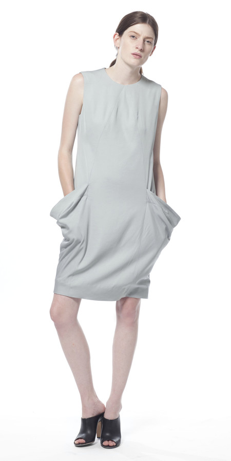 SCHAI Uti Drape Pocket Dress