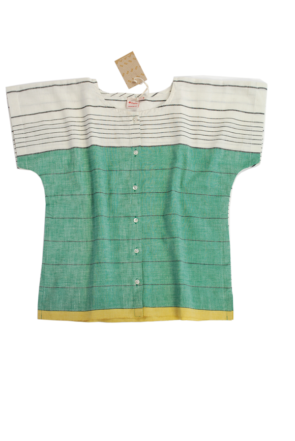 Muny Green Stripe Top