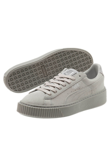 PUMA Basket Platform Reset Women's Sneakers- Gray