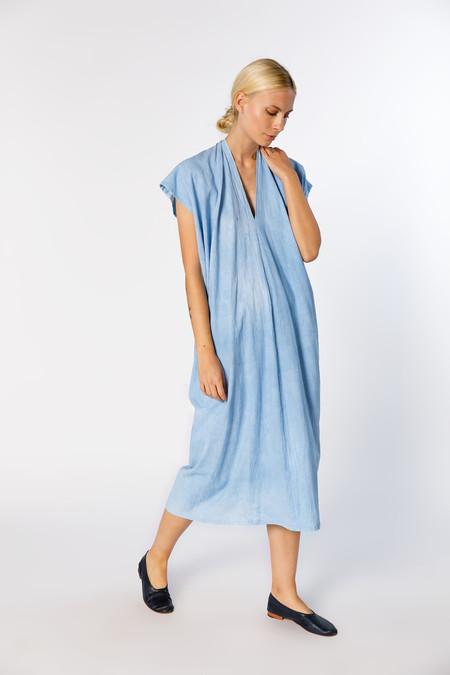 Miranda Bennett Everyday Dress, Oversized, Cotton in Light Indigo