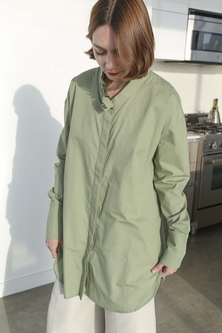 Delfina Balda Mima Button Up in Sage