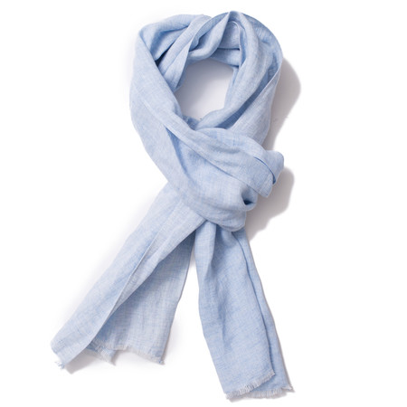 Corridor Light Blue Linen Scarf