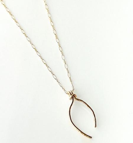 Katye Landry Gold Fill Wishbone Necklace