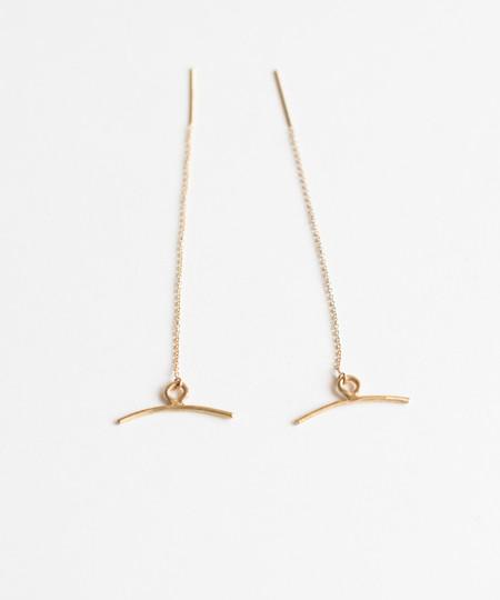 Lumafina Ancha Threader Earrings Bronze