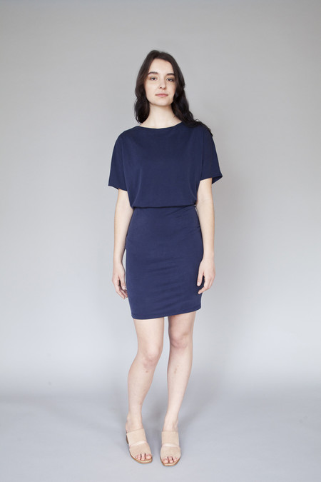 Valérie Dumaine Laurel Dress Navy